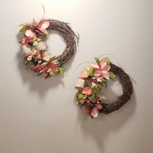 Set of 2 Floral Wreaths
